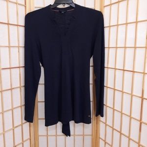 Tommy Hilfiger Blue Tie Back Pullover Sweater